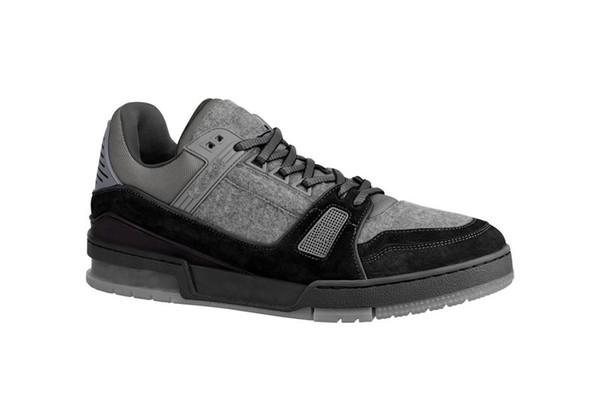 Gris Formateurs 2019 Plateforme Designers Chaussures Design Fleurs en cuir véritable Chaussures Noir, Argent Discount Chaussures sur la vente