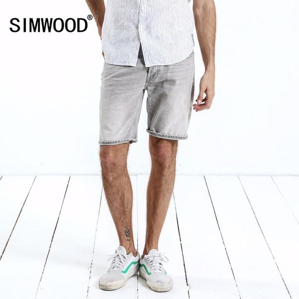 Simwood 2019 nouvel été hommes Denim Shorts Shorts Casual Jeans De Mode Coton Plus Taille Marque Vêtements Livraison Gratuite 180215 Y19071601