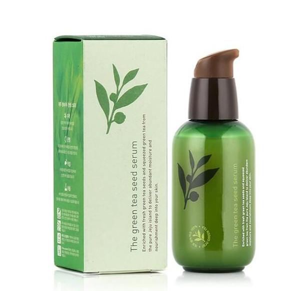 Dropshipping INNISFREE Green Bottle CREMA IL Siero di Tè Verde Siero Idratante Viso Cura Lozione 80ML Nuovo Viso Cura della pelle Crema