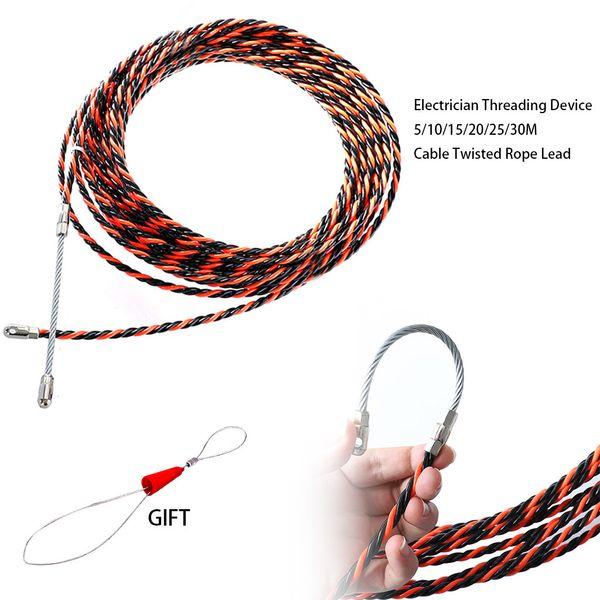 Elektriker Einfädelvorrichtung 5/10/15/20/25 / 30m Kabel verdrehtes Seil Blei starke Traktionsflexibilität Anti-Aging-Hochtemperatur