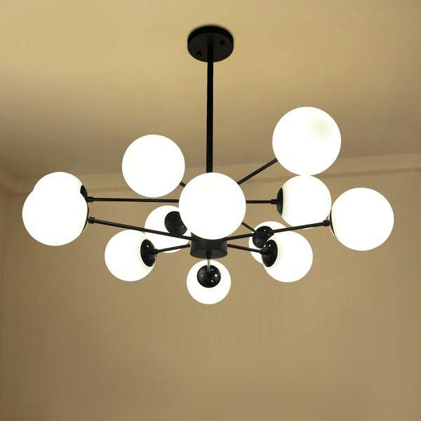 Nordic Living Room Glass Pendant Light Creative Personality Magic Bean Branch Children Bedroom Dining Room Lamp