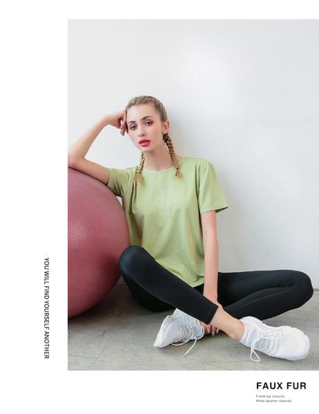 31 Свободная и быстросохнущая одежда для йоги женская рубашка с короткими рукавами спортивная беговая блузка Футболка с короткими рукавами и красотой назад сексуальная тренировка ткань