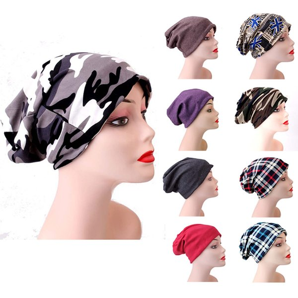 Women Men Skullies Hat Bonnet Winter Beanie Knitted Wool Hat Plus Velvet Cap Thicker Stripe Skis Sports Beanies Hats