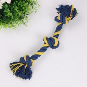 Three Knot Biting Rope Molar Tooth Cleaning Resistance To Bite Pet Toys Training Game And Chew Cotton Rope Dog Toy LJJP 200