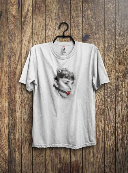 Unisex More Size And Colors New Style Crew Neck Audrey Inspired Ball Gag Short-Sleeve Tee Shirt For Men