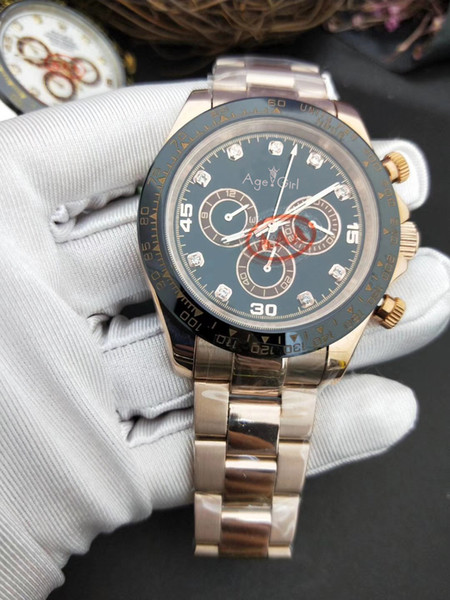 Luxury Brand New Men Watch Sapphire Rose Gold Black White Stainless Steel Automatic Mechanical Gents Style Watches Aaa+
