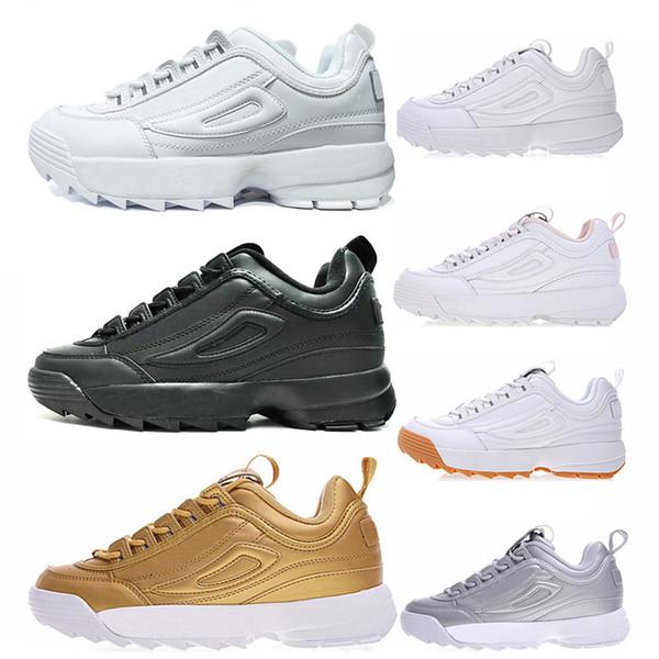 Fila disruptor 2 II shoes 2019 Yıkıcılar 2 Sawtooth Beyaz Üçlü siyah DOSYA Tasarımcı spor platformu erkek beyaz pembe mor sneakers casual Trainer Shoes ayakkabı