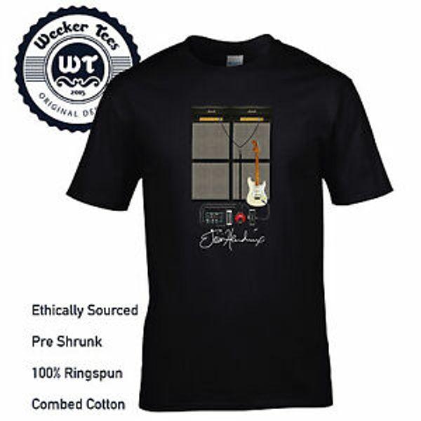 Jimi Hendrix T Shirt Cool Nuovo Woodsto2019 Guitar Setup Effetti di design Pedale ecc