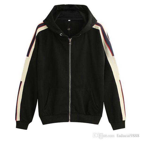 logo STRIPE Erkekler Hoodies kadın Sweatshirt adam giyim İLE GRİ 19ss İtalya modası Moda Markaları Yeni HOODED Posta-UP SWEATSHIRT