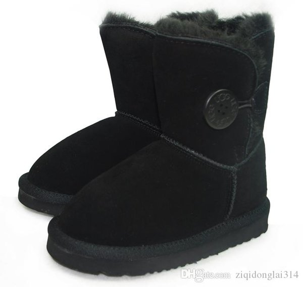 Australia high quality Classic Baby Snow boots Australia Classic Style Cow Suede Leather Waterproof Winter Cotton boots Warm Boots