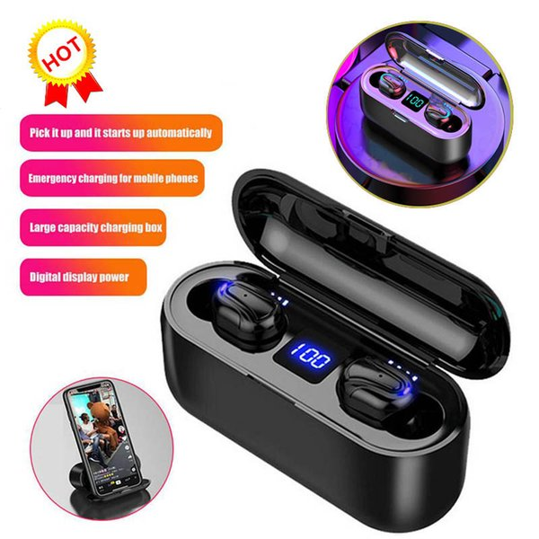 Wireless Bluetooth Earbuds LED Display TWS HBQ-Q32-1 HD Handsfree Headphone Sports Earphone Power Bank Gaming Headset With Mic Charging Case