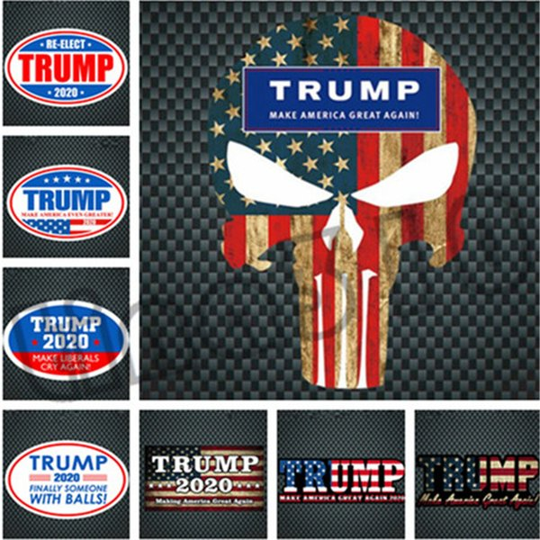 Fashion color multi-style high quality Reflective Wall Stickers New hot-selling TRUMP 2020 sticker Car sticker T9I001