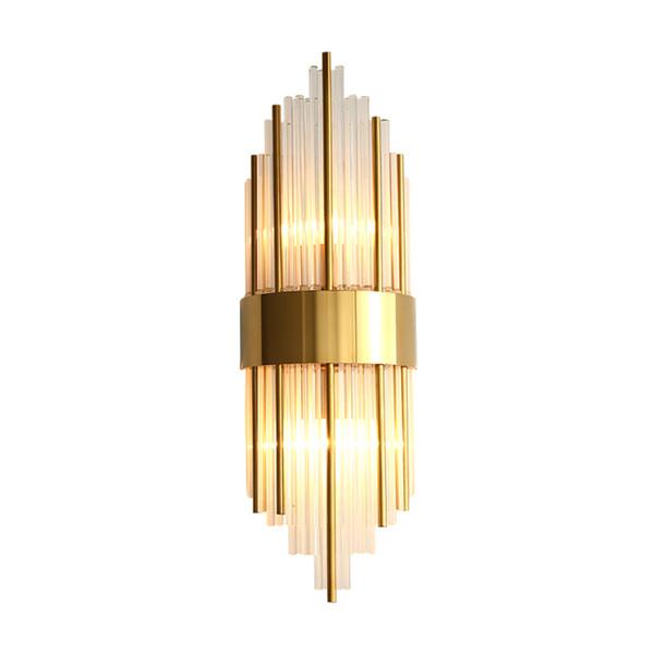 oda koridor başucu aplikler yaşayan Yeni modern lüks cam duvar lambaları altın kaplama duvar led aydınlatma armatürleri monte ışıklar