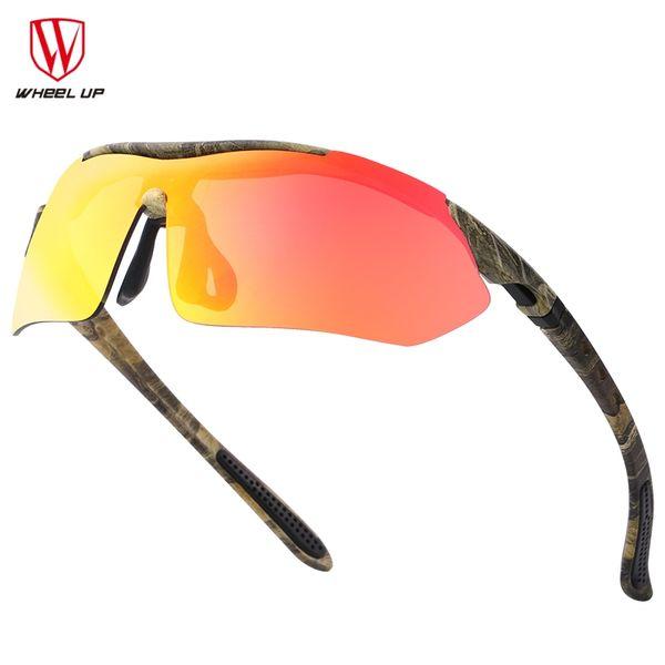 WHEEL UP UV400 Sport lunettes de soleil Hommes Femmes Polarisé Lunettes De Vélo Imperméable Revêtement Complet VTT Route Unique Vélo En Plein Air Lunettes