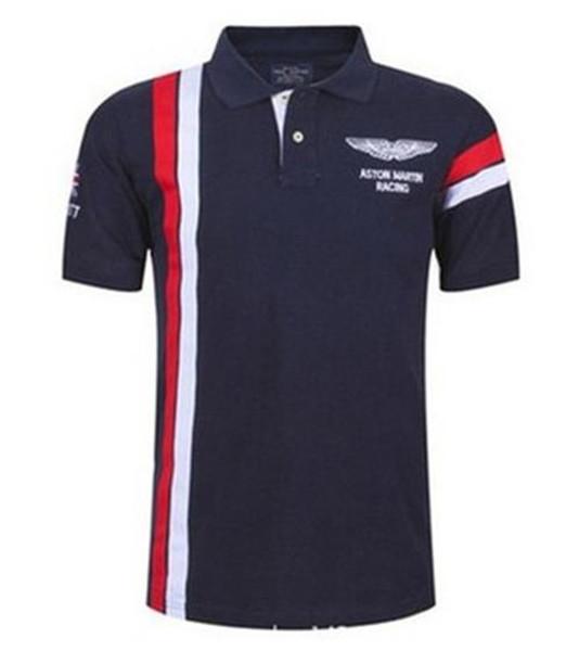 Maglietta a maniche corte da uomo a manica corta da uomo con stampa a righe a maniche corte da golf Mens Sport Tees