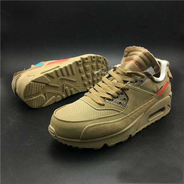 2018 Vente en gros 90 V2 Desert Ore Chaussures de course Hommes Noir Sport Sneakers Designer Chaussure Jogging En Plein Air