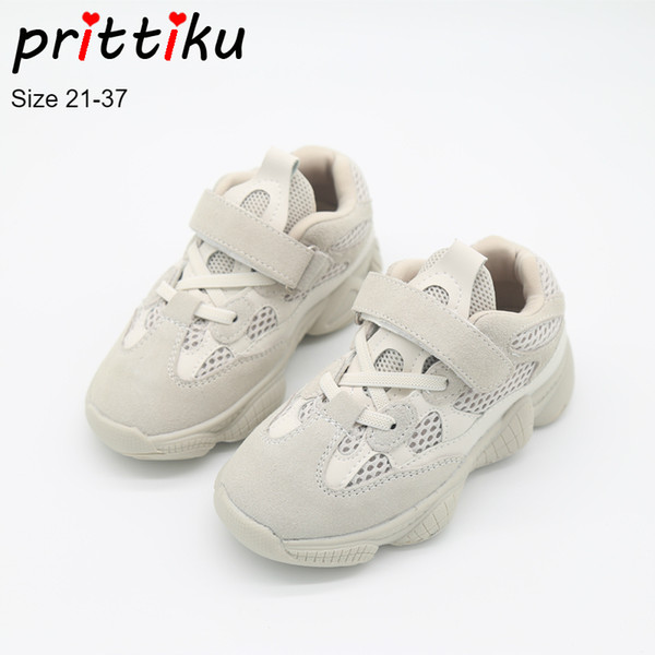Autumn 2018 Boys Girls Mesh Genuine Leather Sneakers Children Game Sport Trainers School Brand Shoes Baby/Toddler/Little/Big Kid
