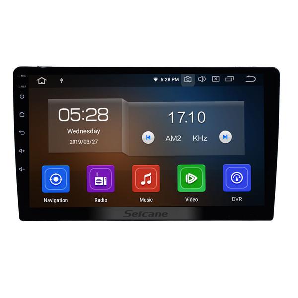 Sistema de navegación GPS universal para coche Android 9.0 de 10.1 pulgadas con teléfono Bluetooth Pantalla táctil Espejo Enlace compatible con DVD de coche DVR 1080P Cámara trasera