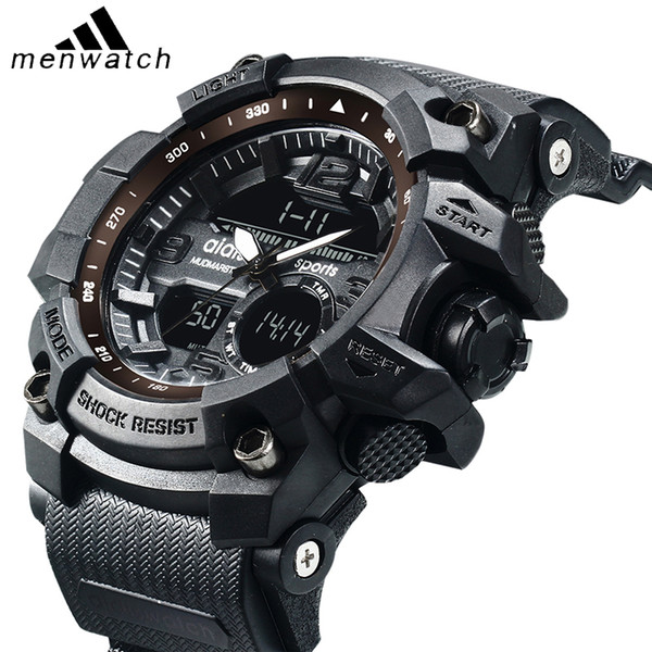 2019 Top Brand Aidis Watch Men G Style Life Waterproof Sports Watches Luxury Analog Digital Sports Watches Men