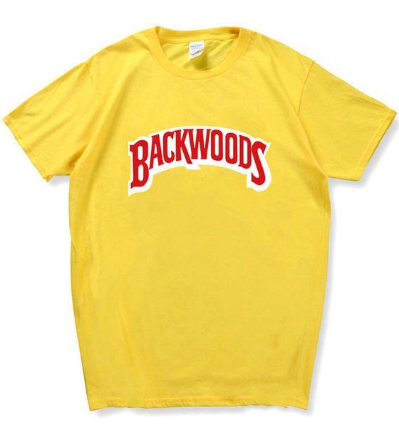Backwoods Harf Baskılı T Gömlek Yaz Tasarımcı T Gömlek Casual Gevşek Tees O Yaka Kısa Kollu Moda Tee Tişörtlü
