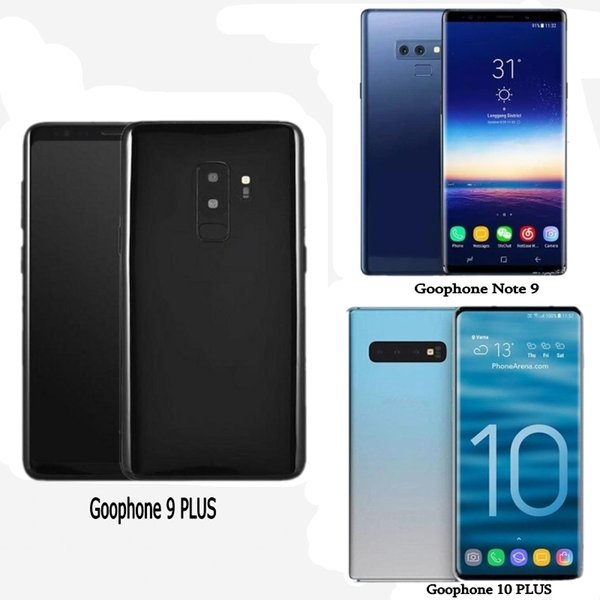Free DHL Goophone s10 PLUS Note 9 Unlocked Cell Phones quad core 1Gram 16Grom 6.5inch full Screen Show 128GB fake 4g lte Android Smartphone