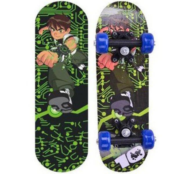 Skateboard de cuatro ruedas de 17 pulgadas Pegatinas de colores de doble cara patinetas calle downhil mini patines para principiantes
