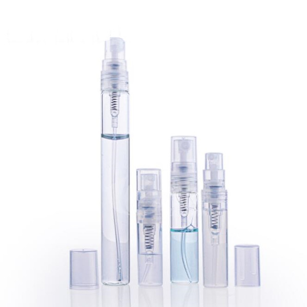 2ml 3ml 5ml 10ml Glass Perfume Bottle, Empty Refillable Spray Bottle, Small Perfume Atomizer, Perfume Sample Vials