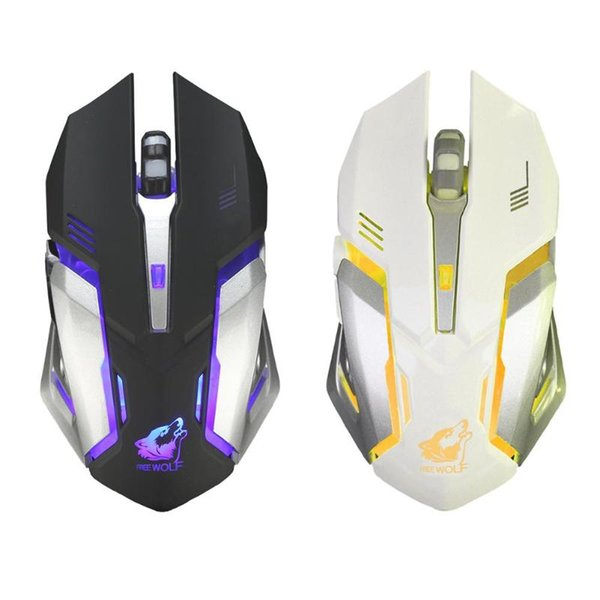 Gaming Mouse DPI 1600 Rechargeable X7 Wireless USB Backlit Optical 7 Color Breathing Gaming Mouse 6 Buttons Mute Mice