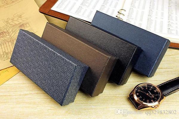 conception unique gros de haute qualité étui rigide rectangle montre boîte noire antichocs interne cadeaux mousse souple de bijoux de mode boîtes