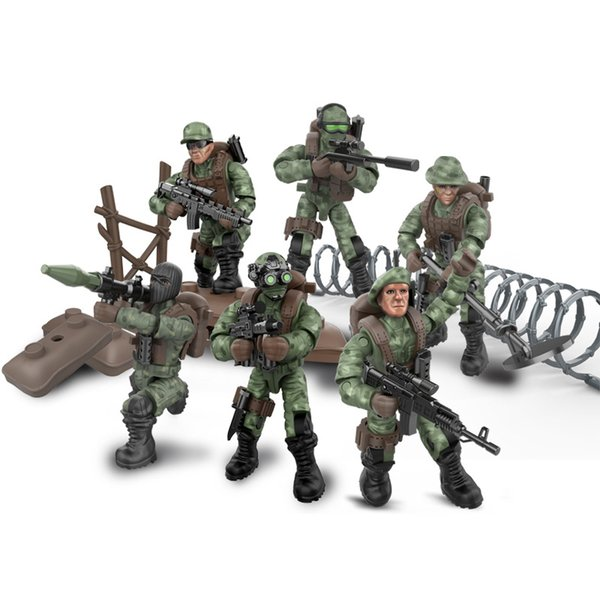 Newest Military Army Soldier Building Block Assemble Brick Jungle Commandos Seal Special Mini Action Figure Toy for Boy