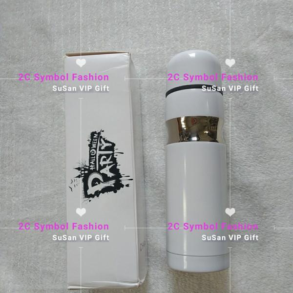 Nueva moda C blanco puro diseño acero inoxidable taza de vacío tren bala tazas de vacío de dos pisos VIP