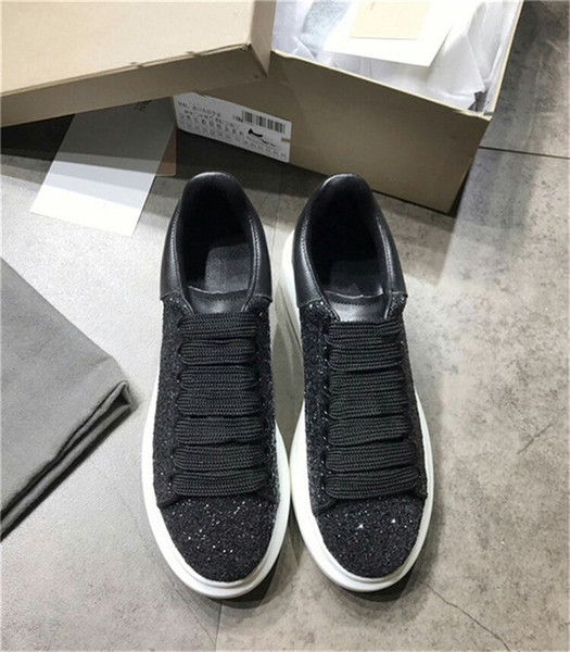 Sıcak Satış-Tasarımcı Erkekler Rahat Ayakkabılar En Yüksek Kalite Erkek Bayan Moda Sneakers üst katman deri Ayakkabı Hafif Sneakers