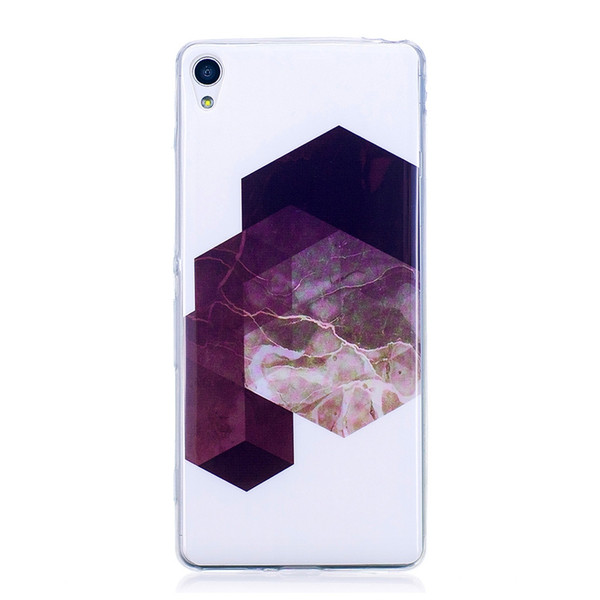Marbling Phone Case For Sony Xperia XA Case F3111 / F3113 Trend Fashion Soft Silicone TPU Cover Cases Protection Phone
