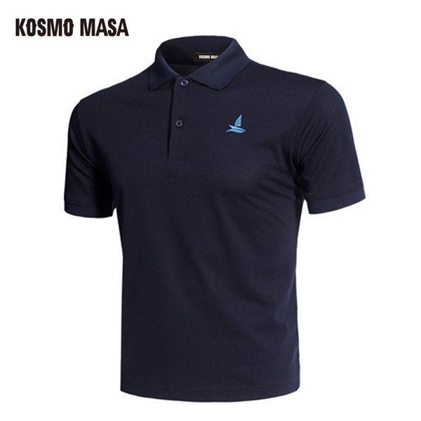 Kosmo Masa Cotton Black Shirt Mens Short Sleeve 2018 Summer Casual Solid Male Polo Shirts Dry Slim Fit Polos For Men Mp0001 C19041501