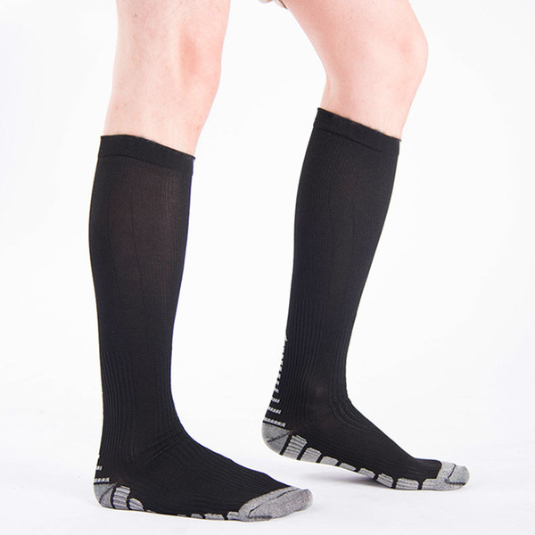 Men Sport Compression Sock Quality Breathable Long Nylon Stocking Magic Leg Slimming Sock for Male Outdoor Sports Socks