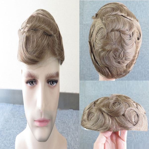 100%New American men's wig with unique design, pure natural brown wig, natural hair, thin and breathable, comfortable to wear.TKWIG