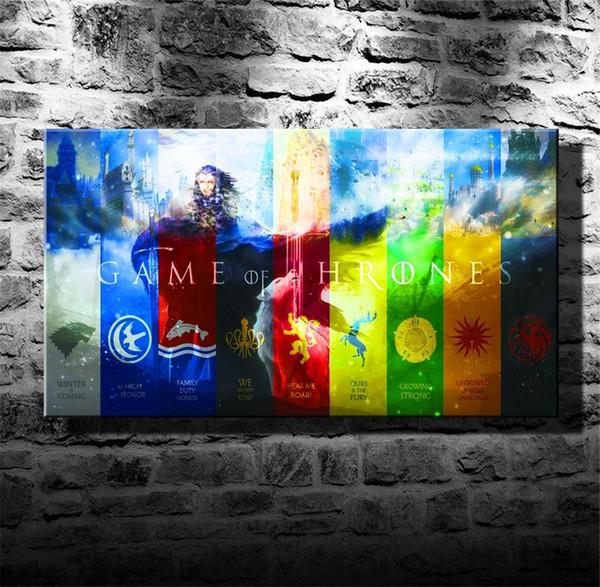 Großhandel Game Of Thrones Hintergrund, 1 Stücke Leinwand Wandkunst Ölgemälde Wohnkultur Ungerahmt Gerahmt. Von Xiaohua1214, $5.98 Auf De.Dhgate.Com