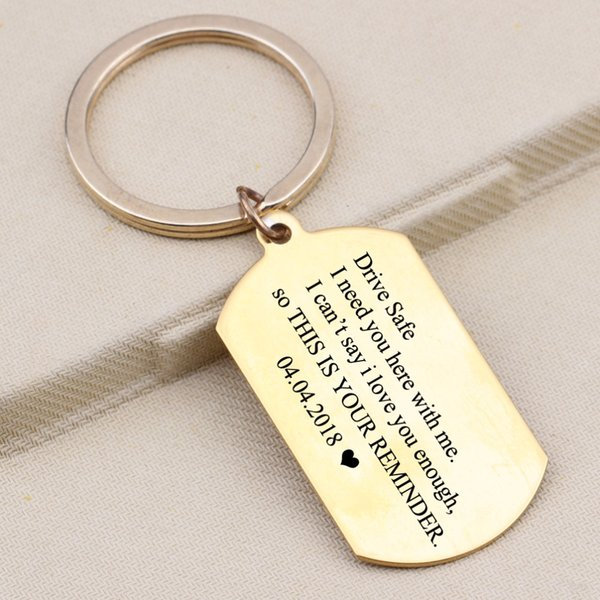 06e197578f Custom Data Keychain Drive Safe I Need You Here With Me Engraved Heart  Kryring For Lover