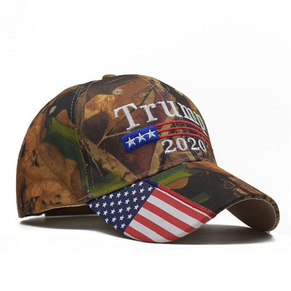 Donald Trump 2020 hat Camouflage Baseball Caps America grand chapeau de broderie Snapback Hat 4 conception DHL FJ304