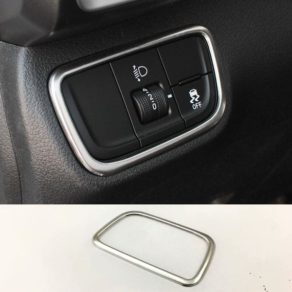 Stainless Interior Headlight Switch Button Frame Trim For Hyundai ix35 2018