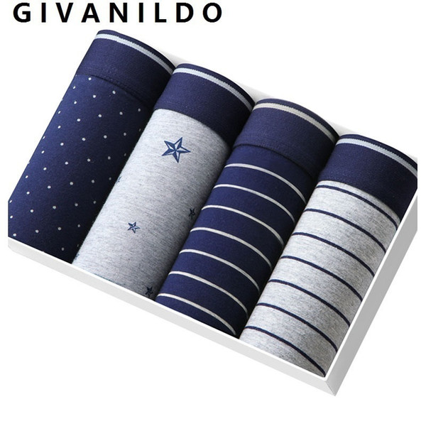 4pcs Boxer Men Modal Boxers Shorts Soft Men's Underwear Gray Underpants Clothings Home Breathable Flexible Male Pants Sets Y872 T2190601