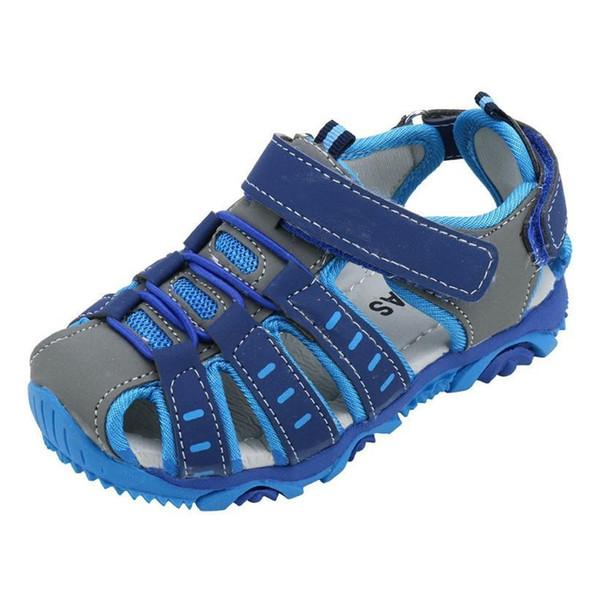 Acheter 2018 Été Plage Sandales Enfants Fermé Orteil Enfant Sandales Enfants Designer De Mode Chaussures Confortables Pour Les Garçons Et Les Filles