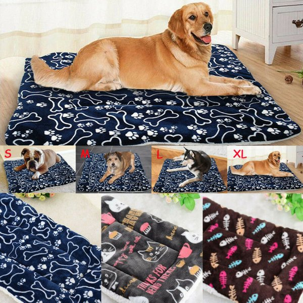 S-XL Large Washable House Blanket Dog Cats Bed Cushion Mattress Kennel Soft Mat