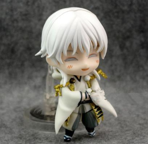 Japan Anime Action Figure Game Touken Ranbu Online Tsurumaru Kuninaga 540# 10cm PVC Model Cute Small Face Can Be Change Toy Doll