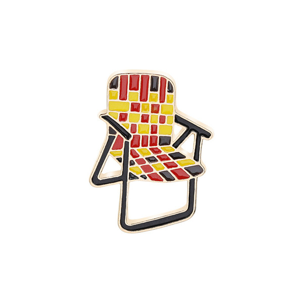 Multicolor Brooch Toolbar Lapel Pin Chairs Enamel Pins Brooches for Designers and Artists