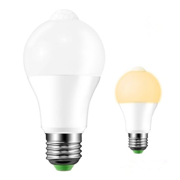 LED PIR Sensor Bulb E27 12W 18W AC 220V 110V Dusk to Dawn Light Bulb Day Night Light Motion Sensor Lamp for Home Lighting