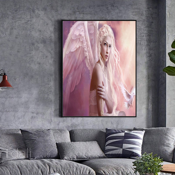 Unframed Broken Angel's Wings HD Digital Printing Canvas Oil Painting Home Wall Art Decoration Pictures posters