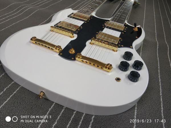 Perfetto doppio manico della chitarra elettrica 1275 crema Modello Fine Per trasporto libero Vendita