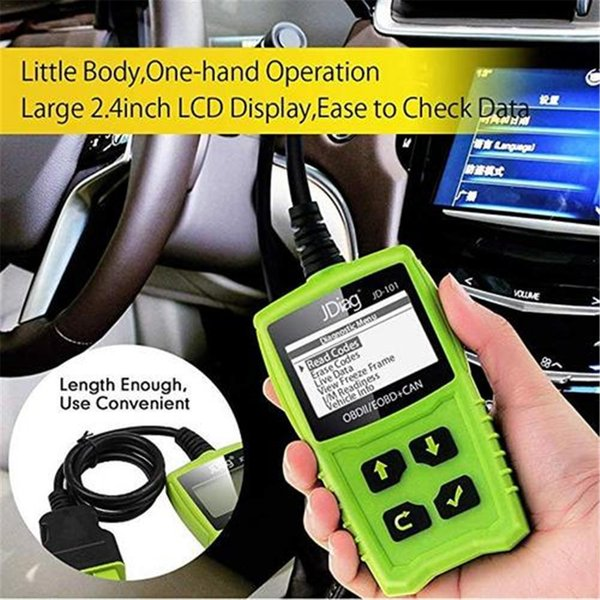 Vehicle Code Reader >> 2019 For Jd101 Obdii Eobd Al519 Diagnostic Device Obd Code Scanner Vehicle Error Code Reader Works On All Cars From Sanjiaomeiflo 46 66 Dhgate Com