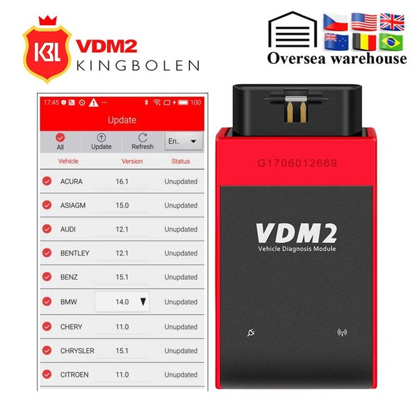 UCANDAS VDM2 full systems Auto Diagnostic Scanner Newest V3.9 Wifi On Android VDM II update free Better than M diag